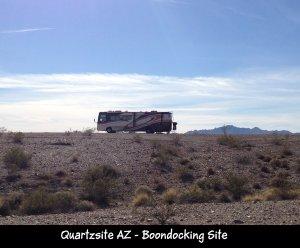 Quartzsite AZ boondock site