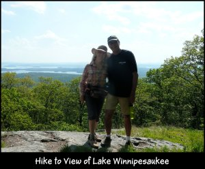 P1150613 me and Mike hiking at Lake Winnipesaukee
