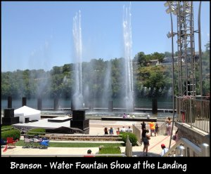Water fountains at the Landing