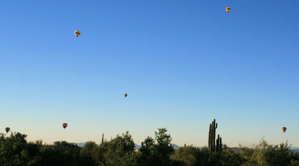 Balloons over Cave Creek