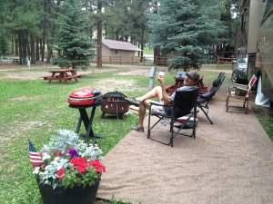 Loved kicking back at our campsite at Vallecito Lake