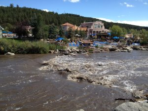 The cute little town of Pagosa Springs with all the stinky natural hot springs.