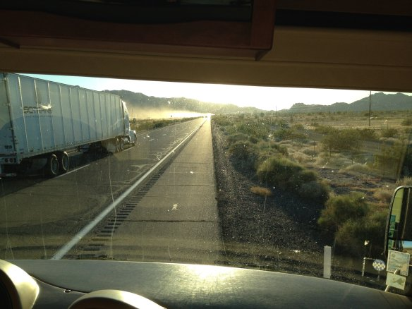Breakdown on the way to Yuma on a narrow shoulder!