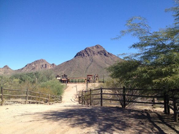 Golden Gate Mountain from Old Tucson Studios