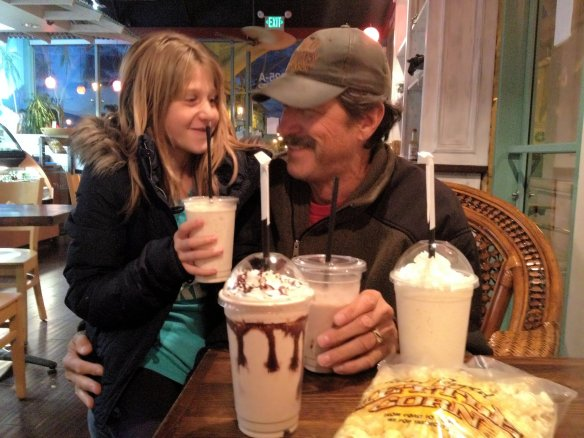 Paige treats Papa to milkshakes