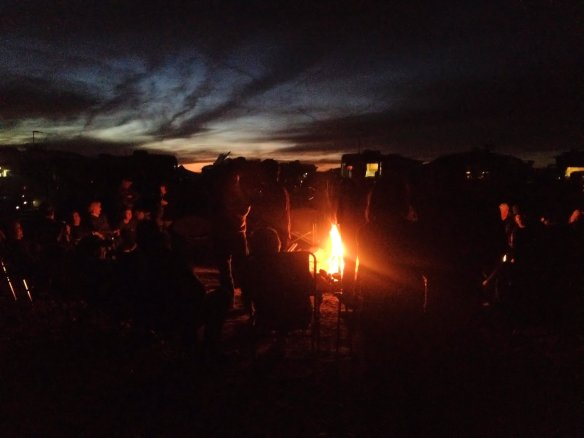 Evening were spent around the campfire with the Monaco group.