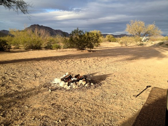 Our campsite at Snyder Hill BLM land near Tucson AZ