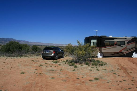 Dry-camping in Cottonwood, AZ