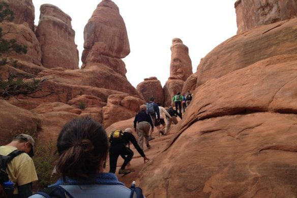 Ranger-led hike into Fiery Furnace