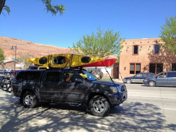 Kayaks on the roof, bikes on the back - a common sight