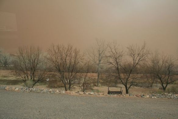 Dust In The Air During The Wind Storm