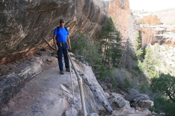 Several ladders on this trail help get you down the canyon