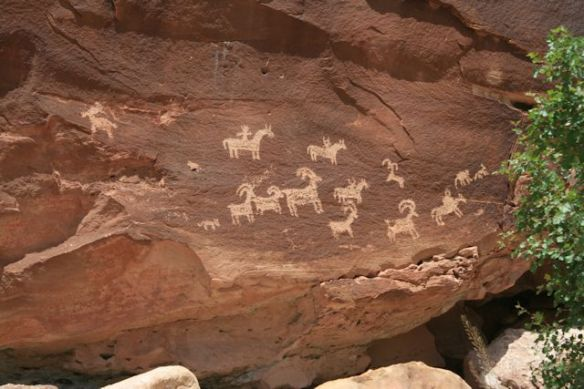 Ute Indian Rock Art, circa 1620 A.D.