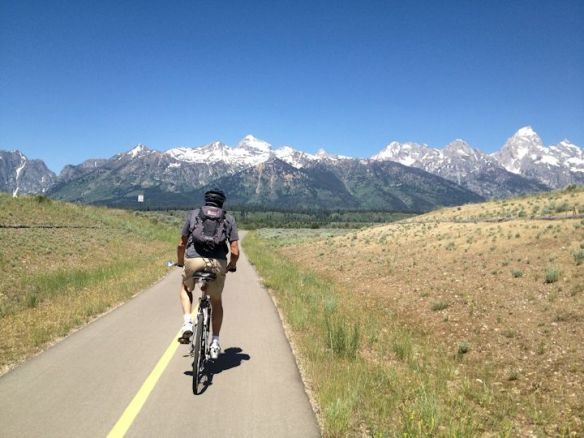 Bicycling to Moose, Wyoming