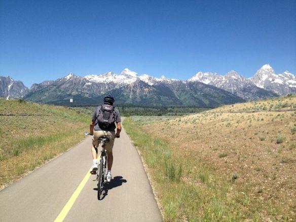 Bicycling to Moose, Wyoming