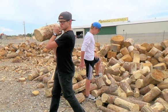 We Put Blake To Work Loading The Firewood