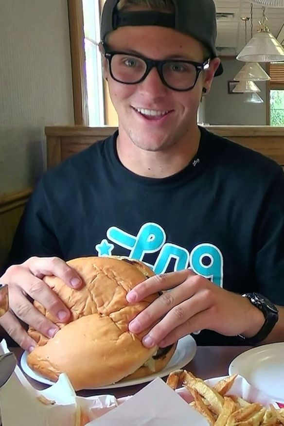 Blake Tackles The Big Jud One Pound Hamburger