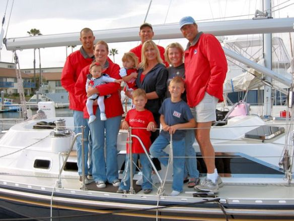 This is our family when we first got the boat in 2005.