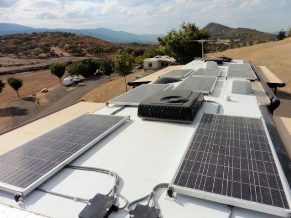 Eight 160 watt Solar Panels