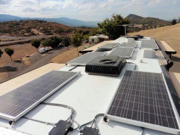 Eight 160 watt Solar Panels