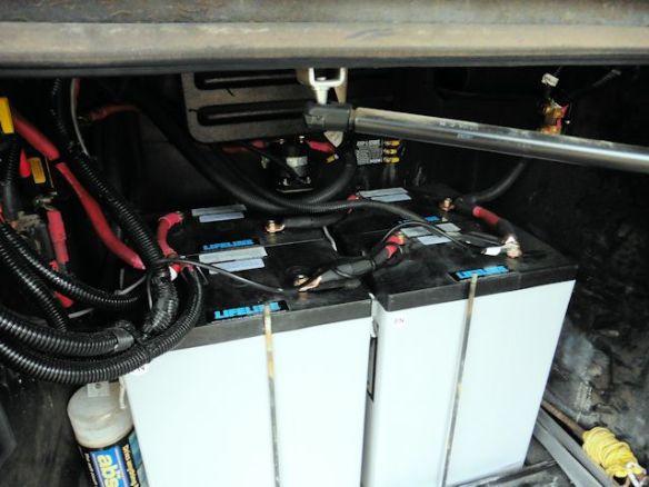 Our 4 new L16 Lifeline AGM 400 amp Batteries
