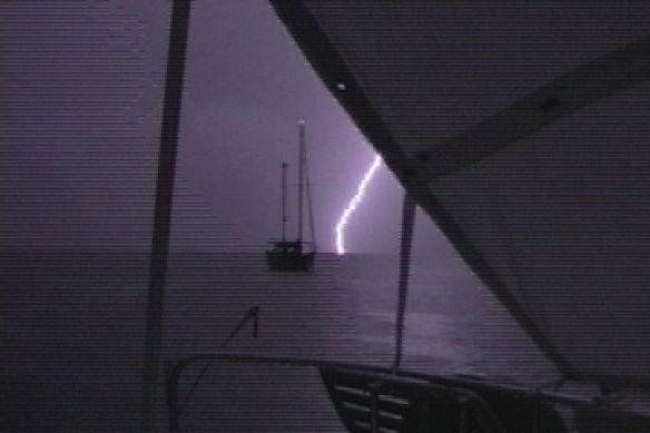 Lightning Is Striking The Water All Around Us in Costa Rica.