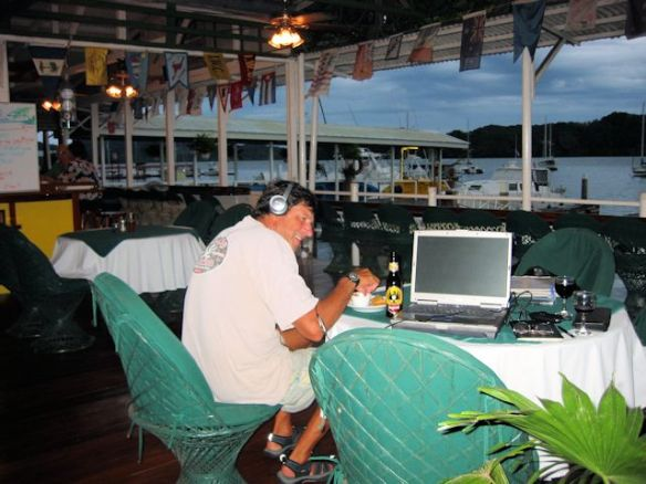 Skyping Home Using Free Wifi At The Yacht Club