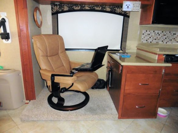 My  Stressless Chair with Attached Computer Table