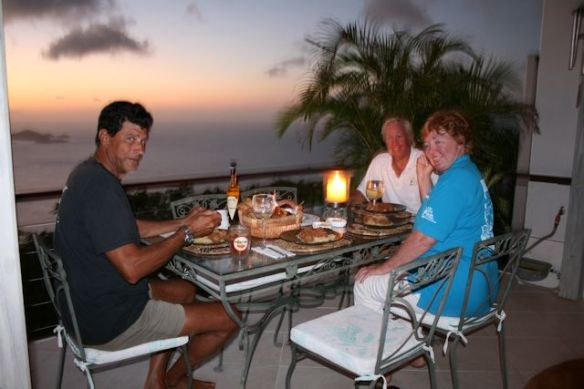 At Frank and Patti's Home on Tortola