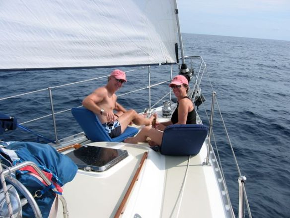 Patricia and Joe sail with us crossing the Sea of Cortez