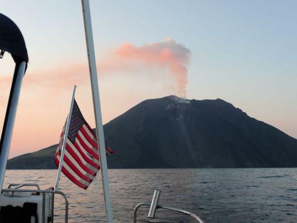 Stromboli, active volcano