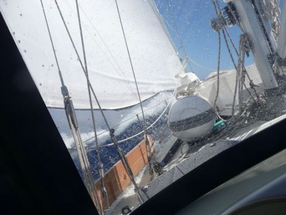 8 Sailing - Atlantic Crossing-Seriously close hauled going fast