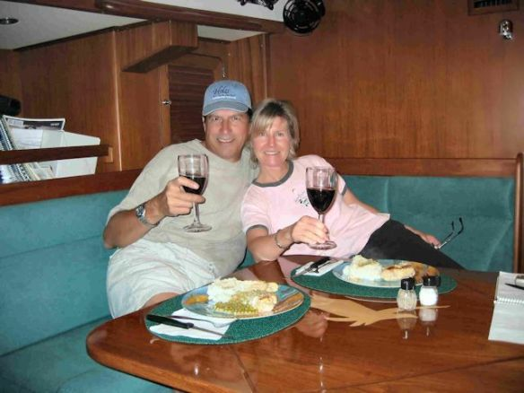 We Enjoy Our First Dinner Aboard As Full-time Cruisers
