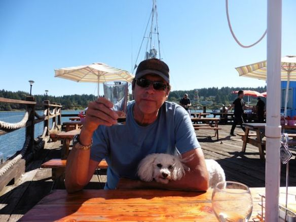 Beachtown 3 Mike and Lucy at pier in Florence OR