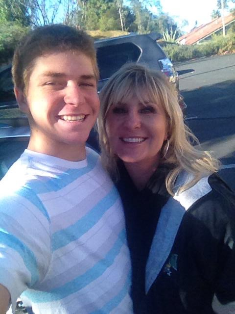 Garrett Takes A Selfie With Mom After Getting His Braces Off