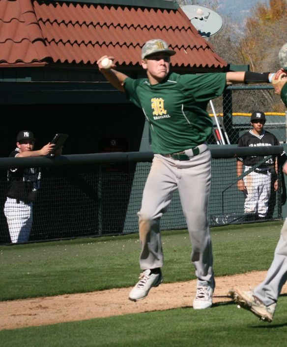 Garrett Plays Baseball.  He is a freshman at Moorpark High School
