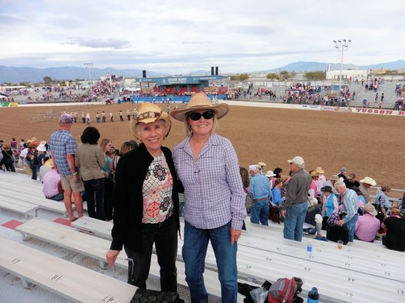 "Jane and Linda at the Tucson Rodeo ""Fiesta de Los Vaqueros"""