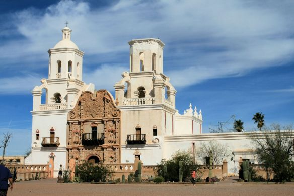 We Visited The Mission San Xavier built in 1783.  A National Historic Landmark.