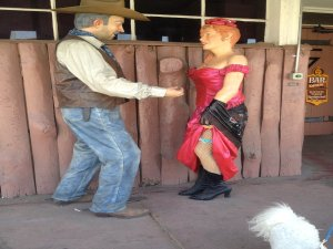 Cowboy and Dance Hall Girl