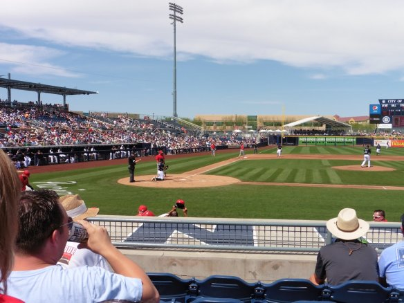 Spring Training Baseball Game - Angels v Mariners AZ -  04