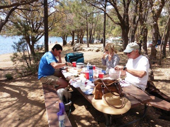 Picnic with Debbie and Dan at Goldwater Lake in Prescott