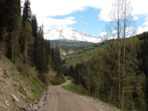 We took a 5-mile hike on Basal Pass Road behind our campground
