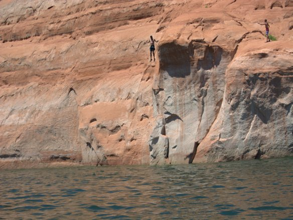 All the guys enjoyed the cliff jumping