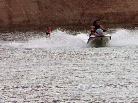Kailyn learned to water ski on this trip.