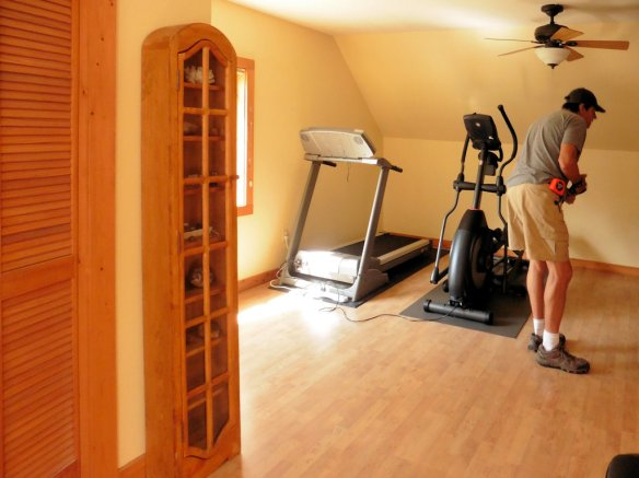 Also upstairs is our exercise room with treadmill and elliptical machine.